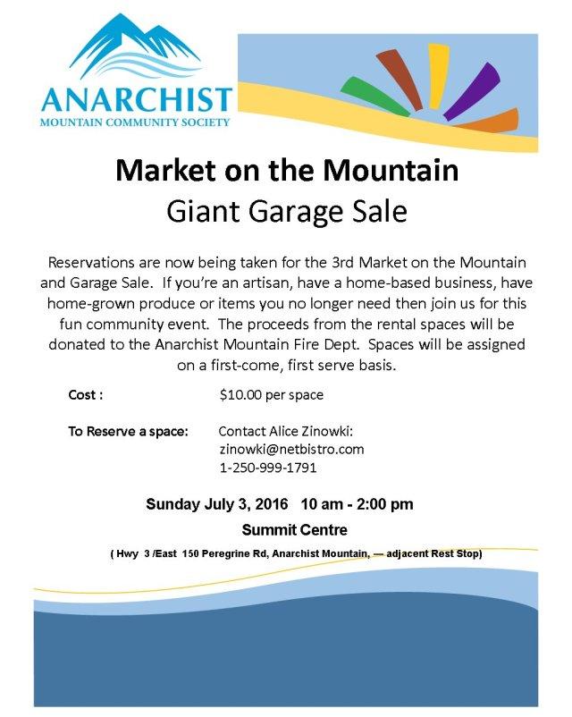 Market on the Mountain Vendors 2016