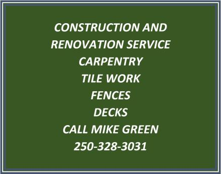 Mike the Renovator Business Card