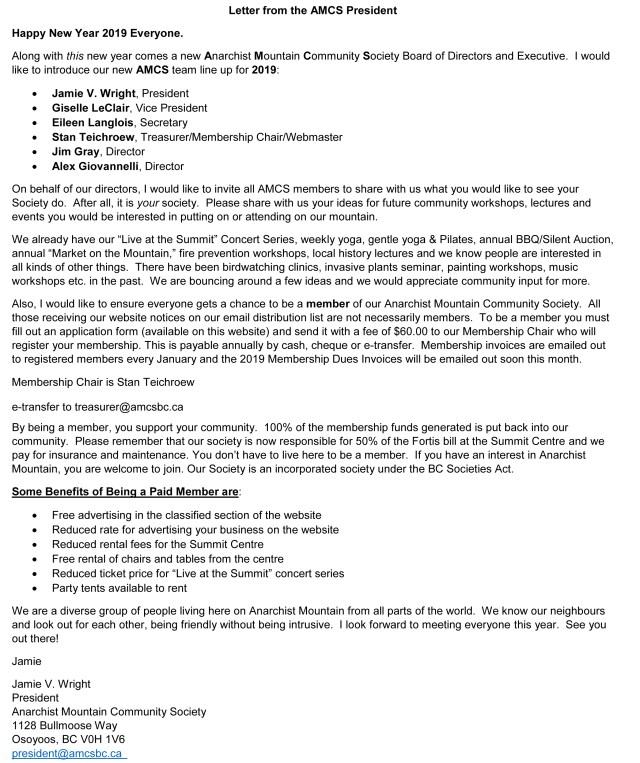 amcs-president-2019-january-letter