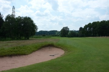 The view from the left-hand side of the 1st fairway.