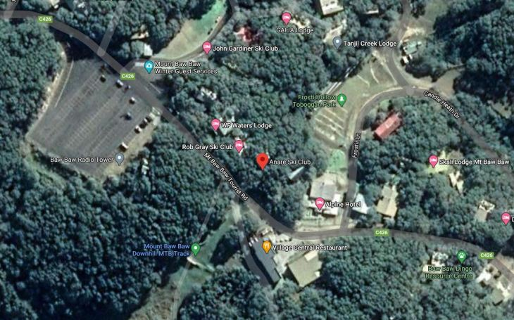 ANARE Lodge 50m from Mt Baw Baw Village carpark, 40m to Hotel and Restraunt/Cafe.