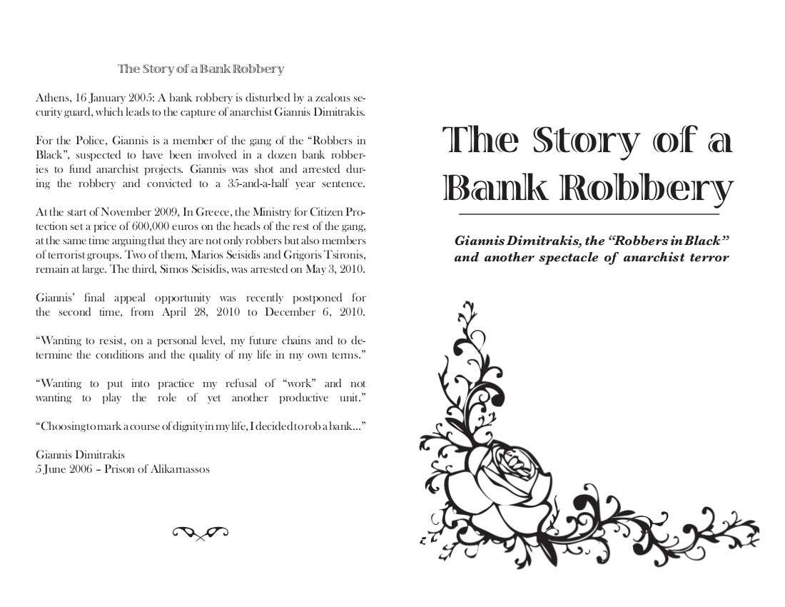 The Story Of A Bank Robbery