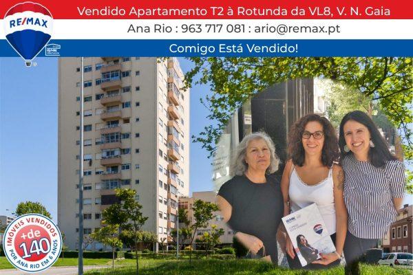 135 Vendido Apartamento T2 em Gaia à Rotunda da VL8