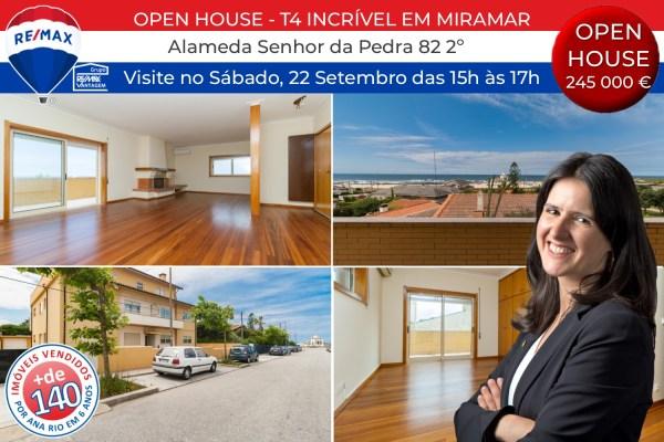 Open House de Incrível T4 em Miramar