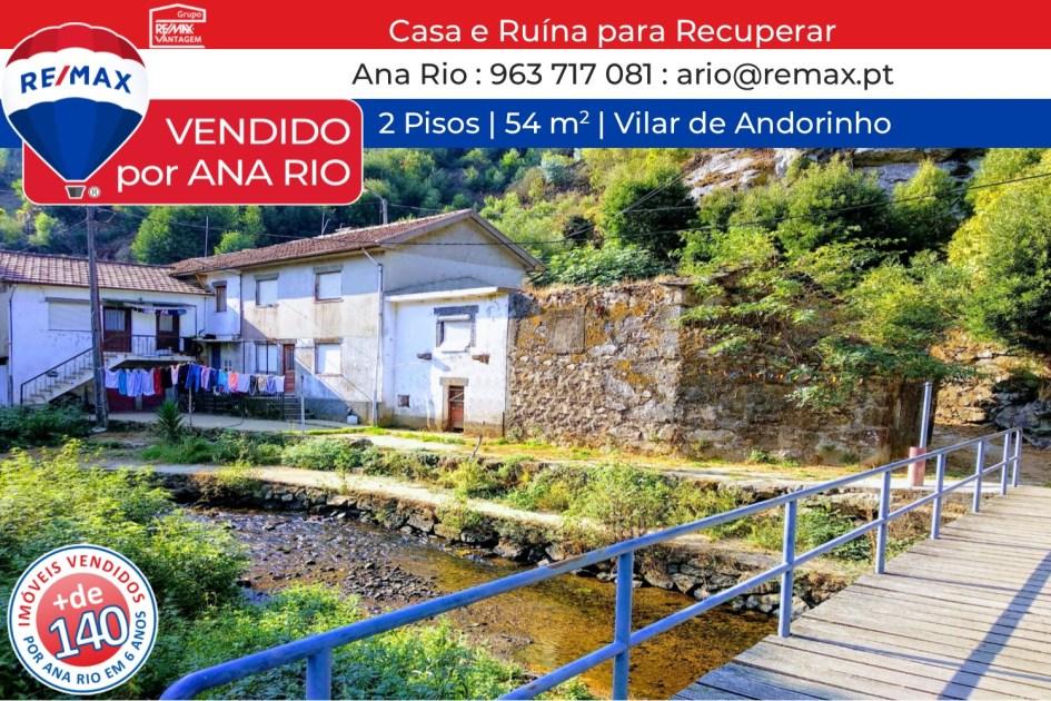 VENDIDAS - Casa e Ruína para Recuperar
