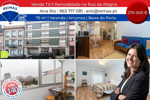 VENDA - T2+1 Remodelado na Rua da Alegria
