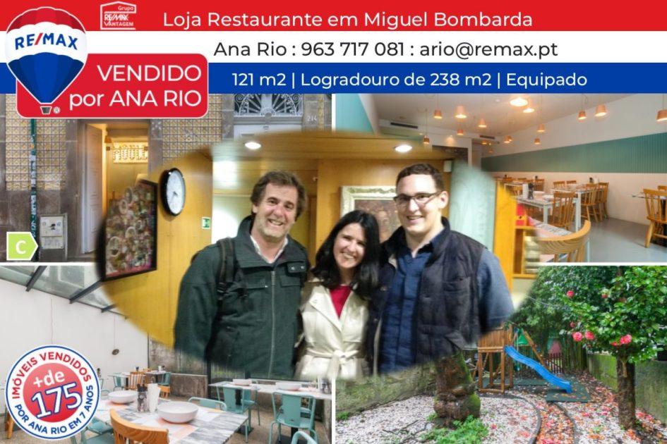 Vendido Restaurante em Miguel Bombarda