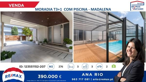 Venda Moradia T3+1 com Piscina na Madalena