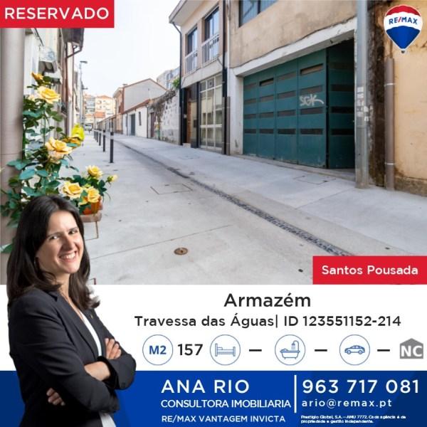 Reservado - Armazém com 157 m2 em Santos Pousada