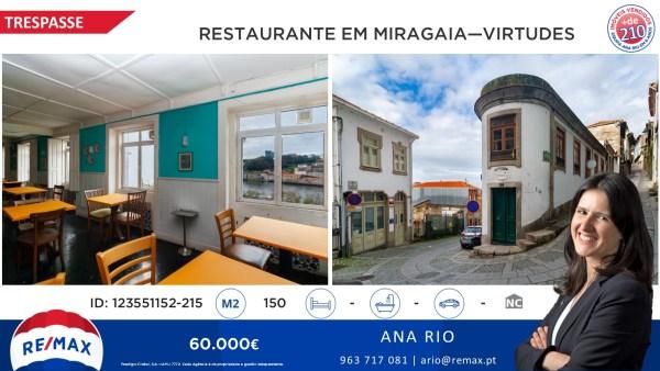 Trespasse de Restaurante em Miragaia