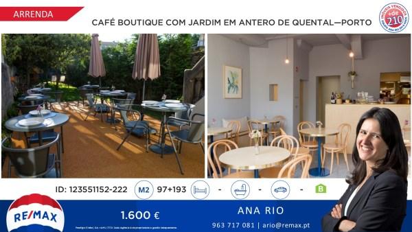 Arrenda - Café Boutique co9m Jardim em Antero de Quental