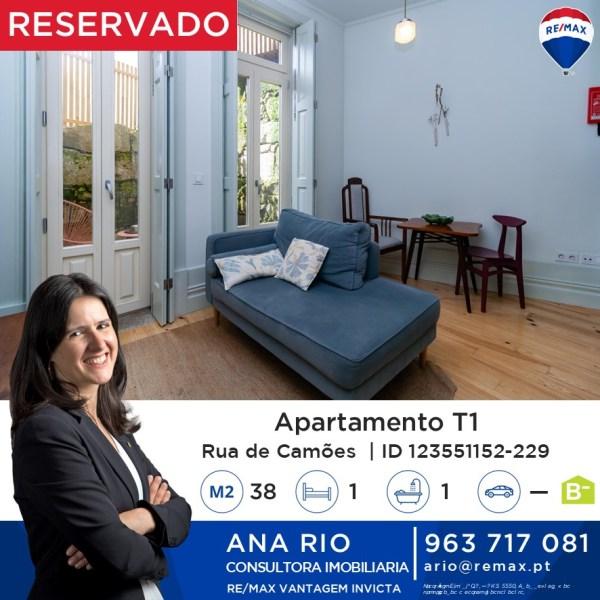 Reservado T1 na Rua de Camões
