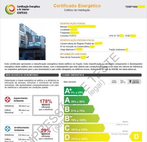 Certificado Energético Temporário