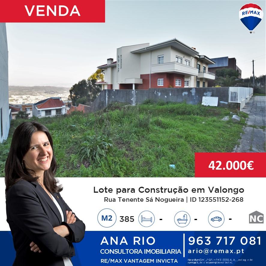 ID268 Lote para Construção em Valongo