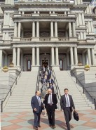 WV Washington group exiting the Eisenhower Presidential Office Building