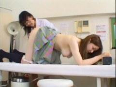 身体検査でおまんこと肛門を弄られる美巨乳ギャルのアナル動画無料