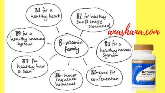 B Complex lengkap lapan vitamin B
