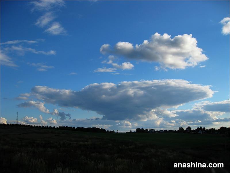 Облако-наковальня, сентябрь в Подмосковье