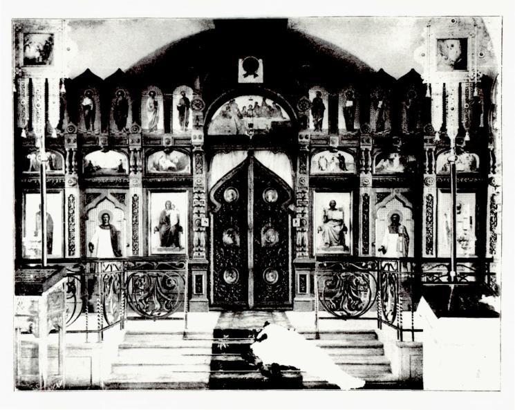 Иконостас Никольского собора в Павловске, фото 1900-х годов