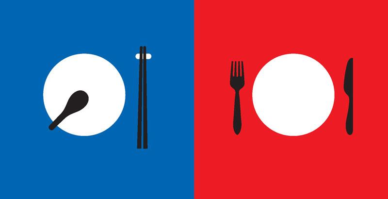 Запад и Китай, иллюстрации Ян Лиу