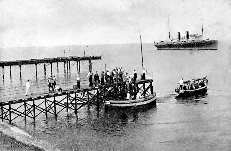 Морской порт Сочи, старое фото