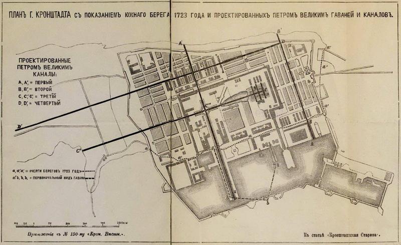 План крепости Кронштадт в 1723 году