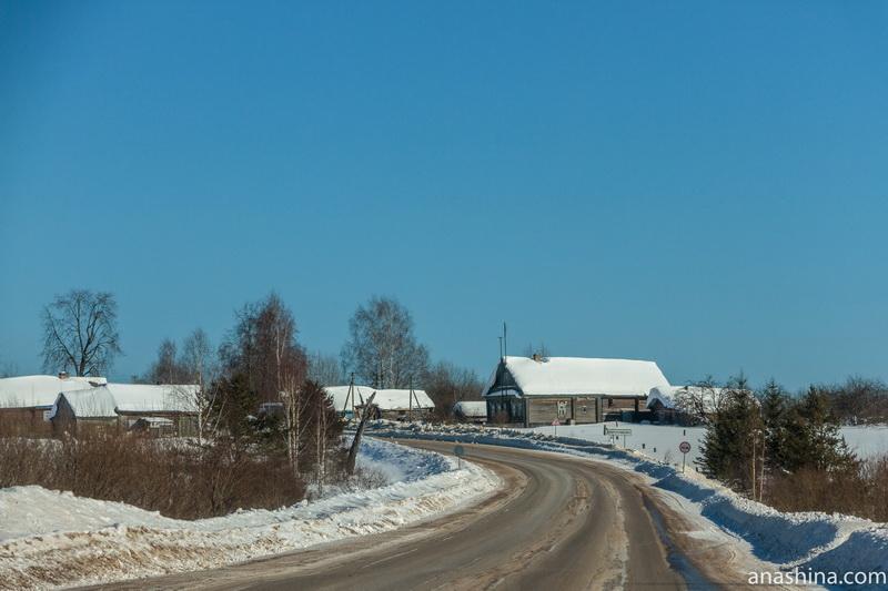 Типичная костромская деревня, Костромская область