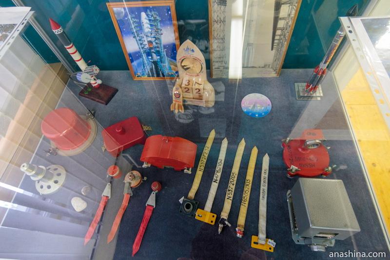 Экспозиция музея Можайского, посвященная развитию космонавтики