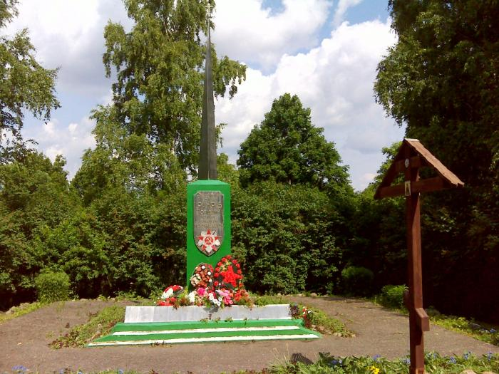 Коростынь, Памятник землякам, погибшим в Великой Отечественной войне