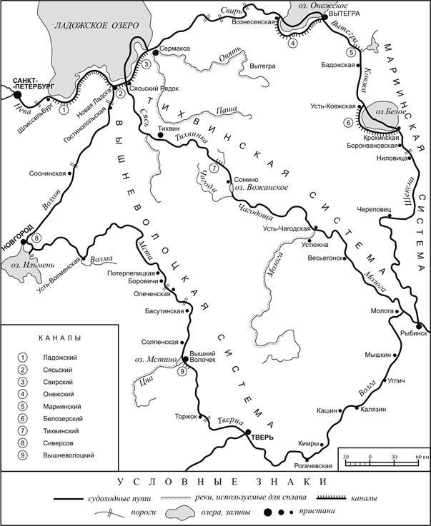 Мариинская, Тихвинская и Вышневолоцкая водные системы