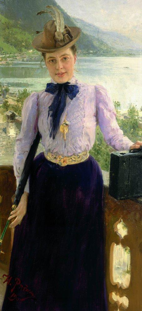 И. Е. Репин. Портрет писательницы Натальи Нордман-Северовой. 1900