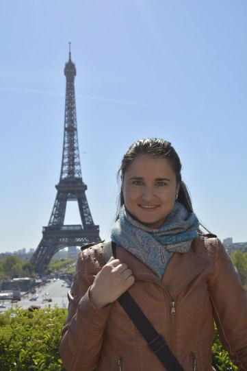 Ana at the Eiffel Tower