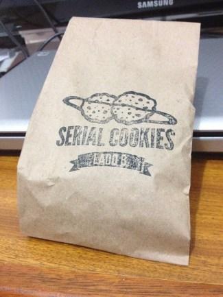 Pacotinho dos cookies que levei pra casa ;)