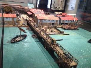 Maquete de Londres na época dos romanos