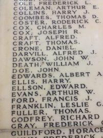 """Um dos memoriais aos funcionários do Undreground que de alguma forma contribuíram na Primeira Guerra, na Baker Street (notem que um dos nomes é bem... """"geral""""!)"""