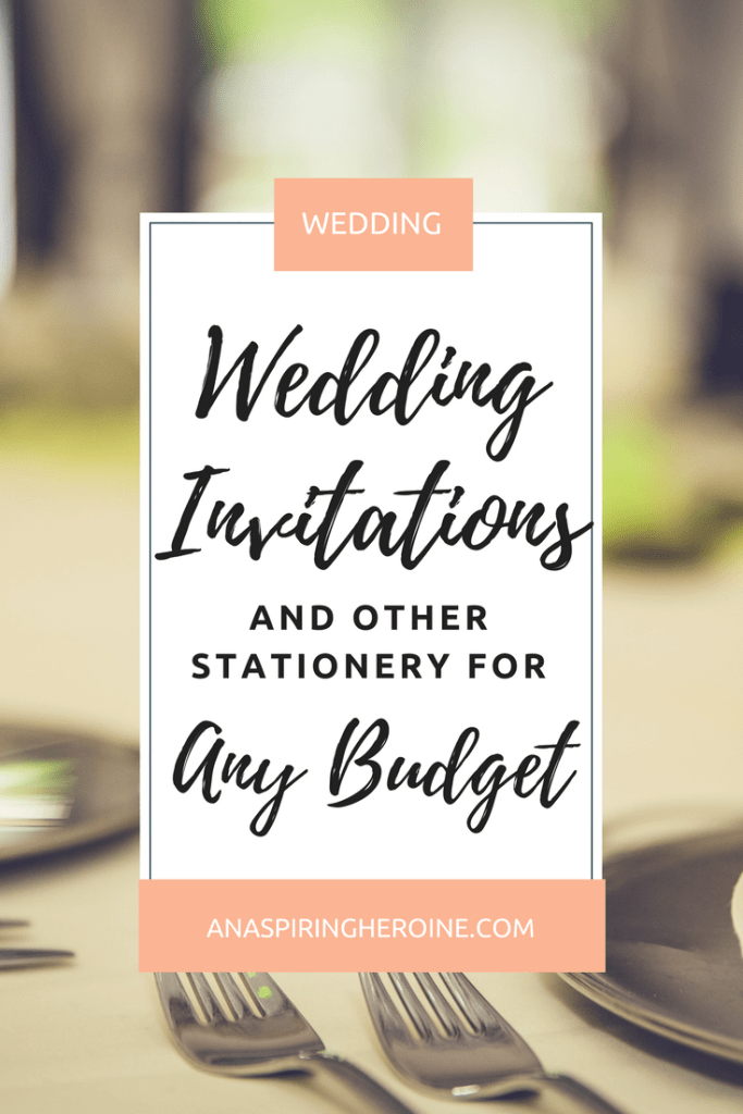 You don't have to sacrifice quality to create your own budget wedding stationery. I designed our save-the-dates, invitations, reply cards, and thank-you notes, and I'm sharing my tips on the blog | An Aspiring Heroine