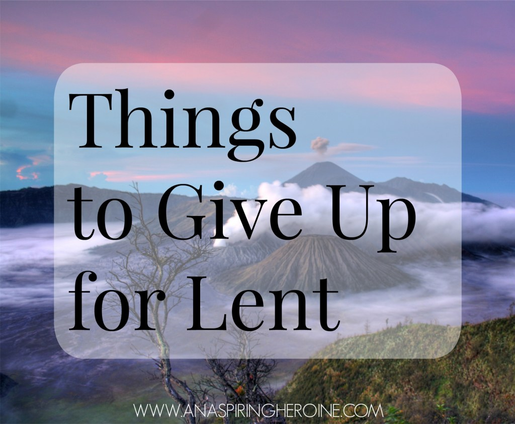 A list for Ash Wednesday with a few ideas for anyone looking to give something up in observance of Lent #lent