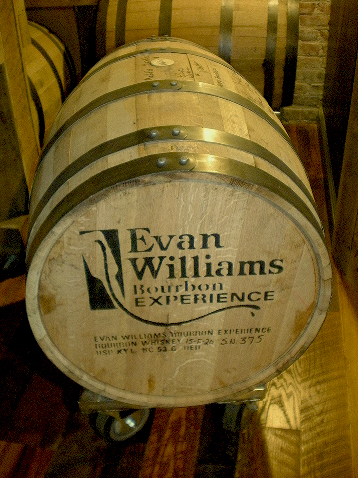 kentucky bourbon trail evan williams barrel