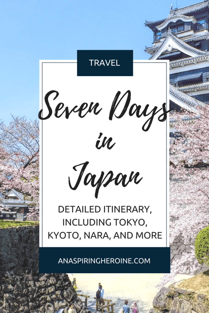 Last year, I spent the most magical week in Japan, and now I've put together a day-by-day itinerary so you can see the best of Tokyo, Kyoto, Nara, Hiroshima, and more! Read more for sights, food recommendations, and over 70 photos of what to expect out of the best week in Japan.   An Aspiring Heroine
