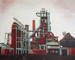 """La Fabrica"", acrylic on canvas, 80 x 100 cm"