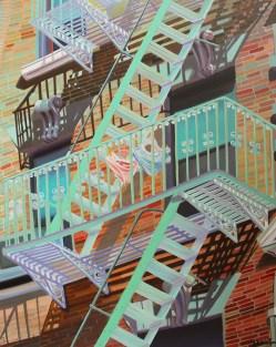 """New York intimo"", acrylic on canvas, 100 x 80 cm"