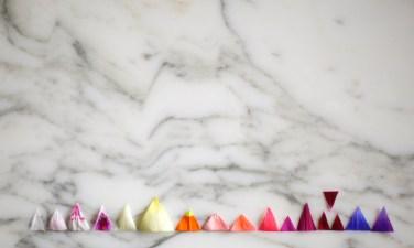 triangular flower installation