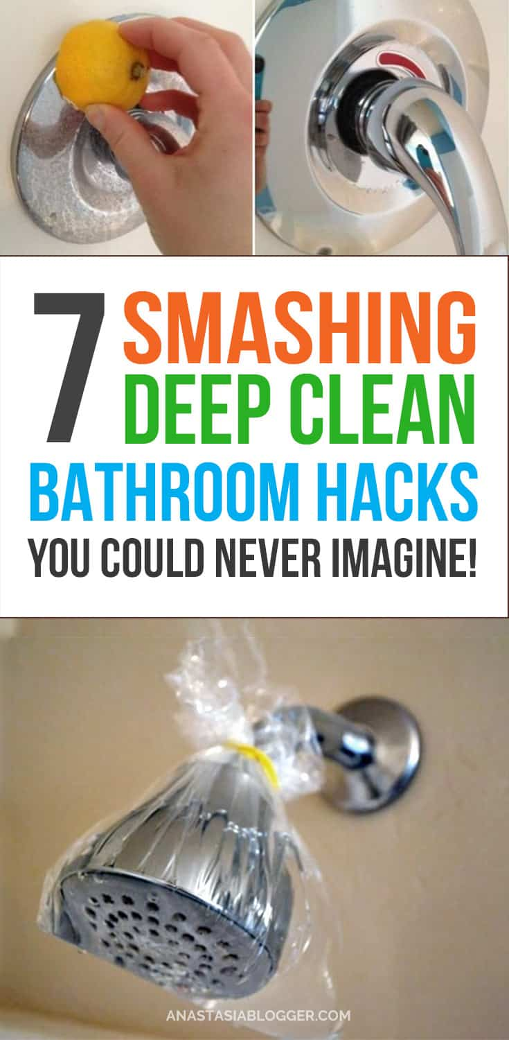Bathroom cleaning tips, bathroom cleaning hacks that will save you lots of time! Bathroom cleaning shower, bathroom cleaning bathtub, bathroom cleaning DIY, bathroom cleaning mold, bathroom cleaning toilet, etc.