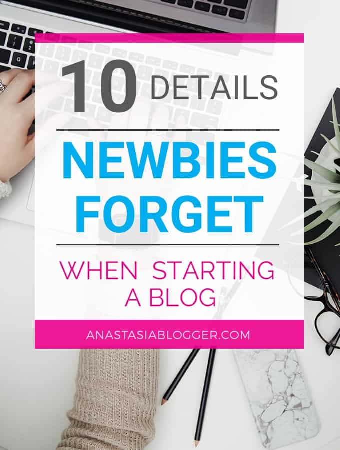 Need a checklist for starting a blog? Step-by-step guide will teach you how to start a blog and avoid the common mistakes made by new bloggers. Check on AnastasiaBlogger.com!