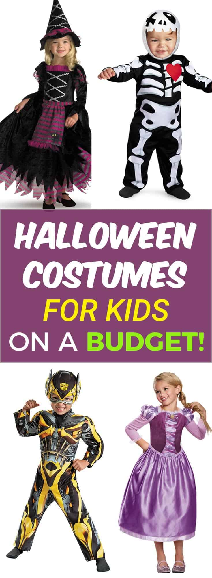 """Halloween Costumes for Kids on a Budget! With my #affiliate link you get an EXCLUSIVE OFFER! 25% off! Use code """"spooky25cj17""""!"""