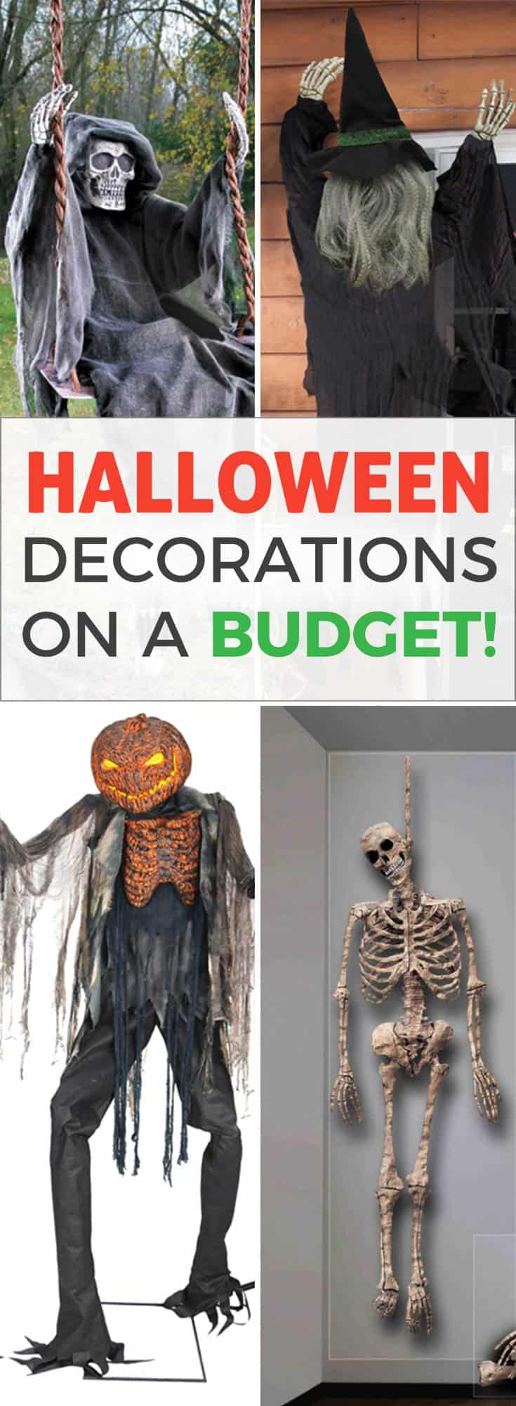 Halloween Decorations Outdoor and for Home on a Budget. With my affiliate link you get an EXCLUSIVE OFFER! <font color=