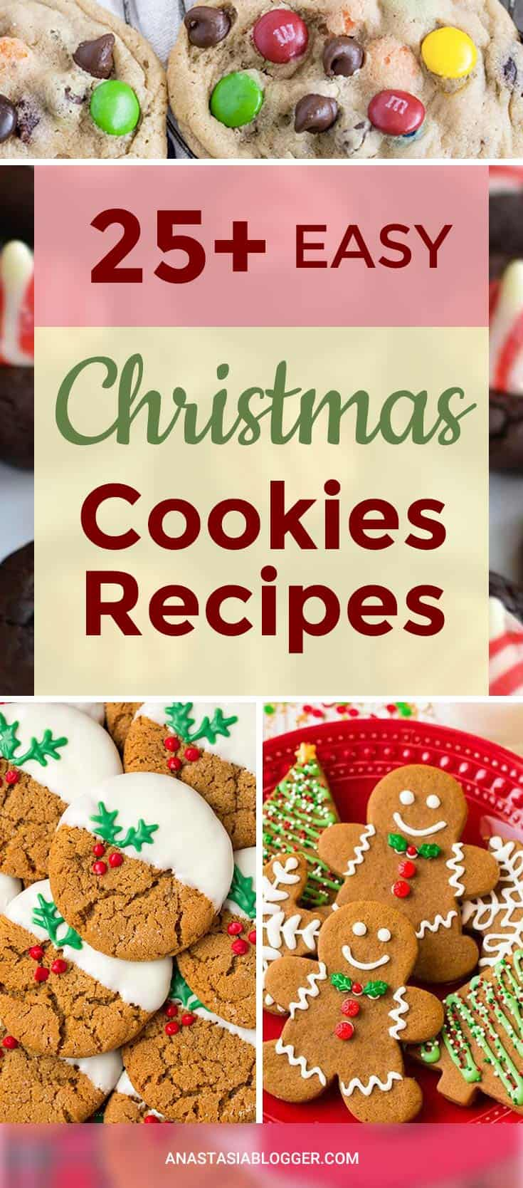 25+ Easy Christmas Cookies Recipes to try this year! Try best Christmas cookie ideas for exchange. Decorated, grinch, make them with your kids! #christmas #xmascookies #christmascookies #christmascookierecipes #christmascookieexchange