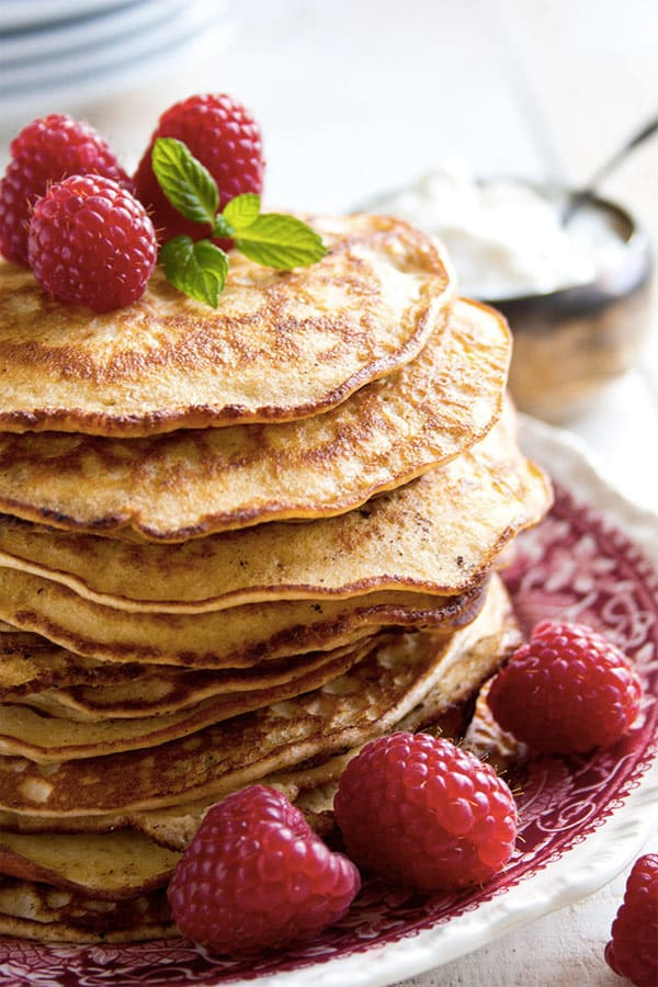 Almond Cream Cheese Pancakes - 8 Easy Keto Breakfast to start burning fat. Keto Breakfast on the go, Keto breakfast make ahead recipes. Eggs cooked in creative ways are the basis of your breakfast on a Ketogenic diet. But it's not eggs only! You can have a no eggs Keto breakfast with muffins, Keto breakfast pancakes or Keto breakfast smoothie. #keto #ketogenic #ketodiet #breakfast #ketorecipes