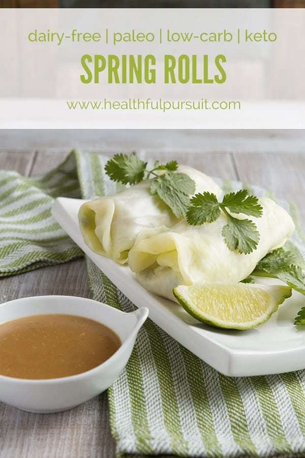 Spring Rolls - Here are hand-picked simple 12 DIY Keto Snacks On the Go for keeping you Ketogenic diet all the day and even while traveling. These low carb savoury fat bombs and treats will fill you up and help you lose weight. Take these home-made Keto snacks to work or a trip – they are easy to keep and heat up. #keto #ketogenic #ketorecipes #ketogenicdiet #ketodiet
