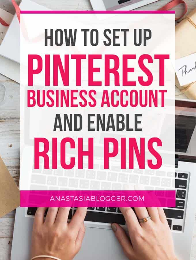 Setting up Pinterest business account and enable rich pins